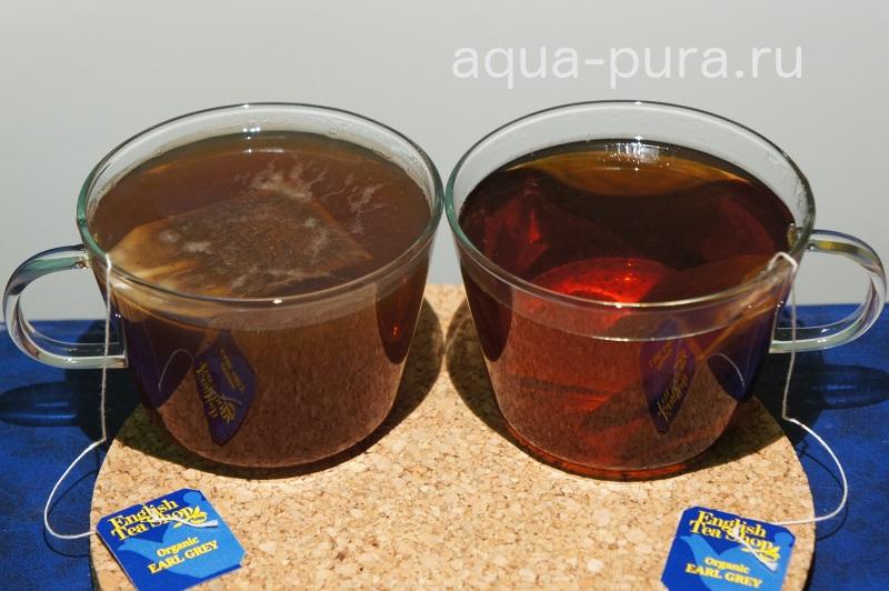 Заваривание чая на разных водах